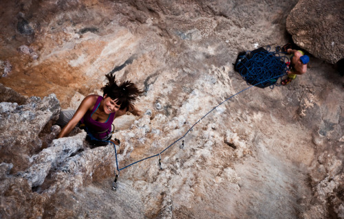 what-a-climber:  Ola on Remember Wadi Rum, 6c, Sector Ghost Kitchen, Kalymnos, Greece Photo by Maciej Ostrowski