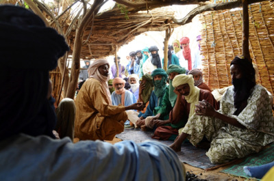"Mali: Refugees in a Vulnerable Situation  A political crisis has divided Mali since the end of January. People displaced by conflict are leaving the north of the country; hiding in the bush or fleeing en masse to Burkina Faso, Niger, and Mauritania. Often they settle in places where people are already living—places that have already been weakened by food insecurity in the region. MSF is responding to the growing humanitarian need in the region, providing assistance to refugees as well as to local people.  MSF is responding to the needs of vulnerable people by supporting health centers in Burkina Faso (Gandafabou, Férrerio), Mauritania (Fassala, Mbéra, Bassikounou), and Niger (Chinagodar, Bani Bangou, Yassan). Every week, MSF's mobile clinics treat people in refugee camps in Burkina Faso (Dibissi, Ngatoutou-Niénié, Déou) and Niger (Ayorou, Maigaïzé, Bani Bangou, Abala, Gaoudel, and Nbeidou). Since February, MSF medical teams have carried out more than 23,000 consultations in the border regions of Mali. ""We are mainly seeing respiratory infections, malaria, and diarrhea,"" says Férir. ""These problems are often due to the very bad conditions that the refugees are living in."" MSF teams are also treating a large number of women in need of obstetric care. One hundred women have given birth in the MSF health post in Mbera camp in Mauritania.Photo: Malian refugees in a makeshift shelter in Burkina Faso  Burkina Faso 2012 © Aurelie Baumel/MSF"