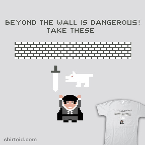 shirtoid:  Beyond the Wall available at RedBubble