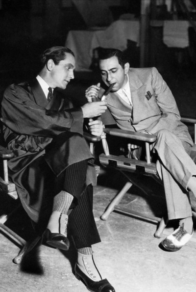 tarkowski:  Fredric March & Ernst Lubitsch on the set of Design for Living