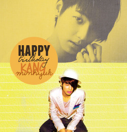 28th June; HAPPY BIRTHDAY KANG MINHYUK ❤