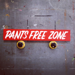 Watch out now… It's a Pants Free Zone over here. Purchase it out on Etsy