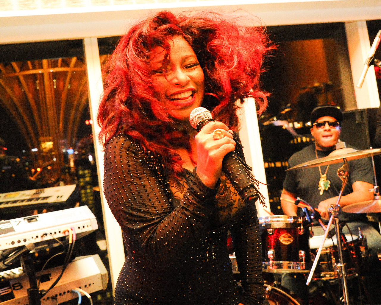 Chaka Khan at Top of The Standard last night - Photo by BFA