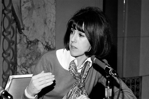 "Nora Ephron's first job was as a Newsweek ""mail girl"" in 1962. In her interview, she was asked why she wanted the job.  ""I want to be a writer,"" she told the woman. ""Women don't write at Newsweek,"" she was told.  ""That was what it meant to be a girl then,"" Ephron later told us. (Photo via the NYT)"