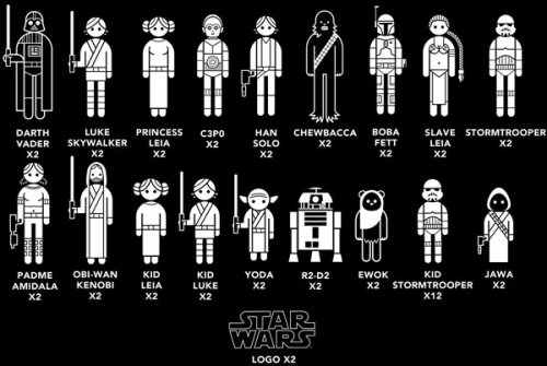 laughingsquid:  Star Wars Family Car Decals