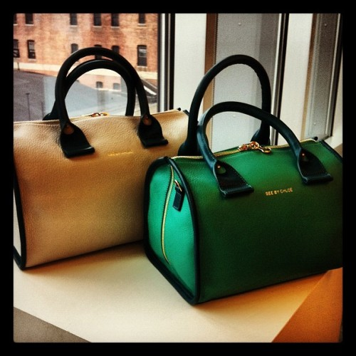 "wmagazine:  ""Love these top handle bags at See by Chloe."" -@wmagnora Follow W editors on Twitter and Tumblr."