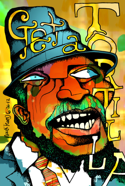 Thelonious Monk (color) Buy a print
