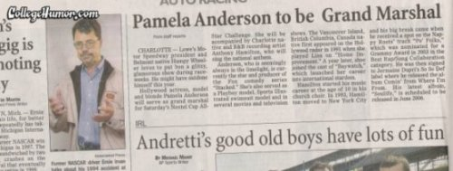 Pamela Anderson Headline Next to Boobs Gesture You know, (hand gesture), Pamela Anderson.
