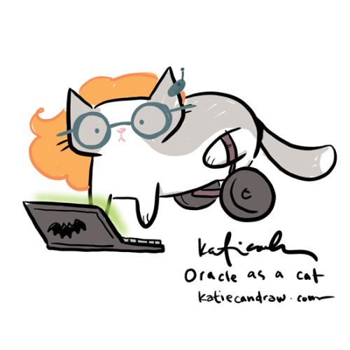 enjoy this mildly stupid doodle of DC's Oracle/Barbara Gordon as a cat.
