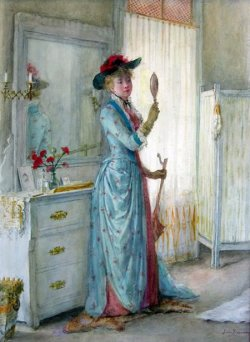 soyouthinkyoucansee:  Ready for the Day, Jennie Brownscombe 1900