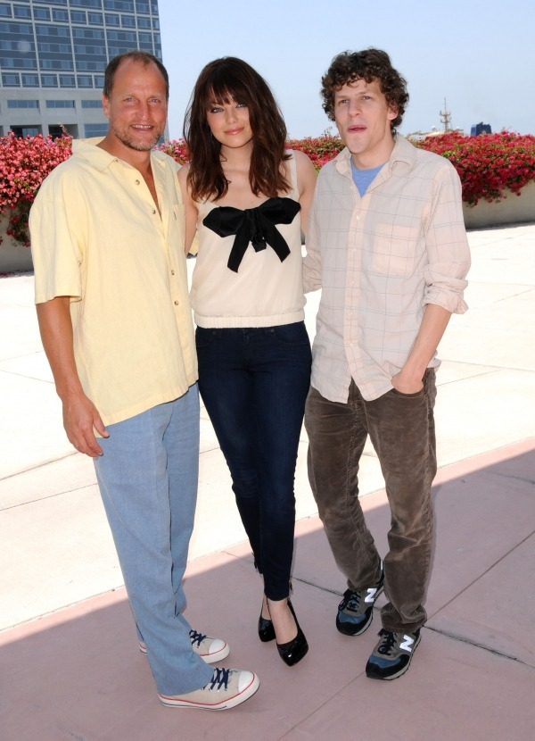 Woody Harrelson, Emma Stone and Jesse Eisenberg