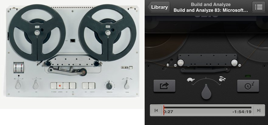 Ben Lenarts: Nice tribute to Dieter Rams' TG 60 tape recorder in Apple's Podcasts app!