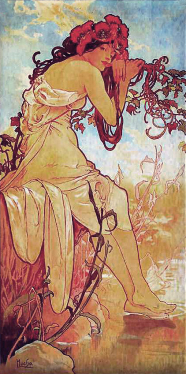 Alphonse Mucha…I call this one Poppythoughts.