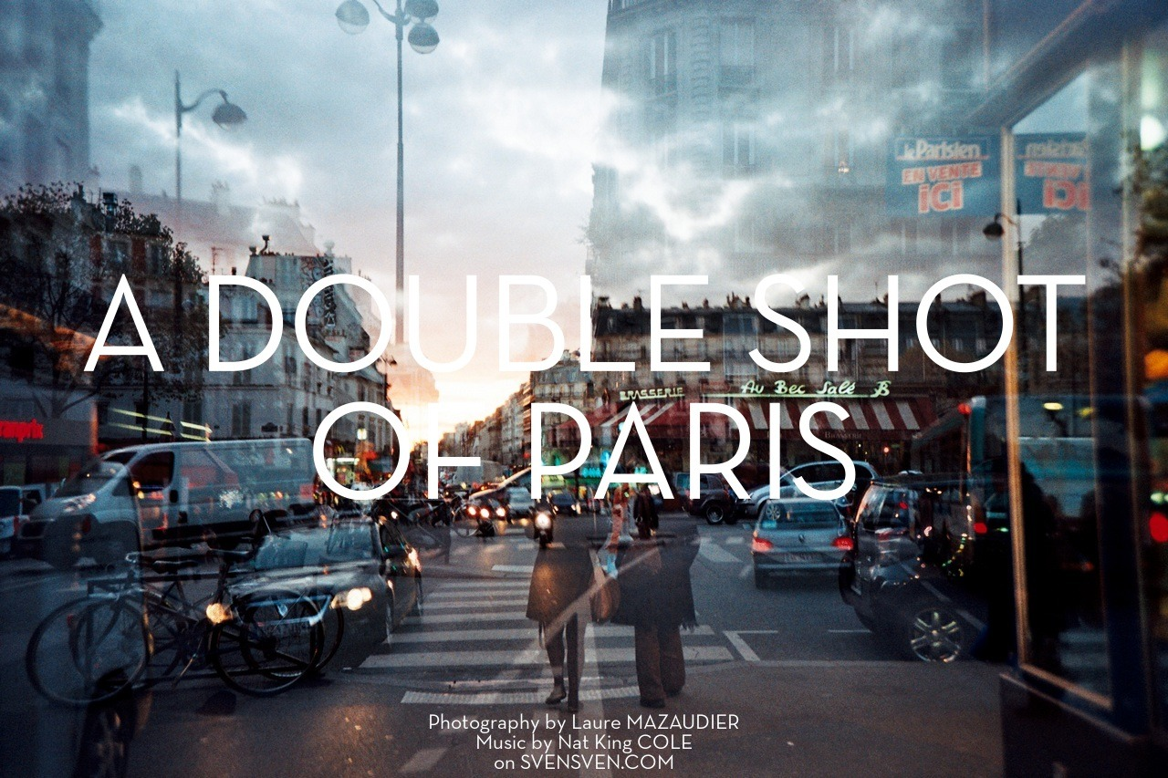 "Photography: Laure Mazaudier ""A double shot of Paris"" 