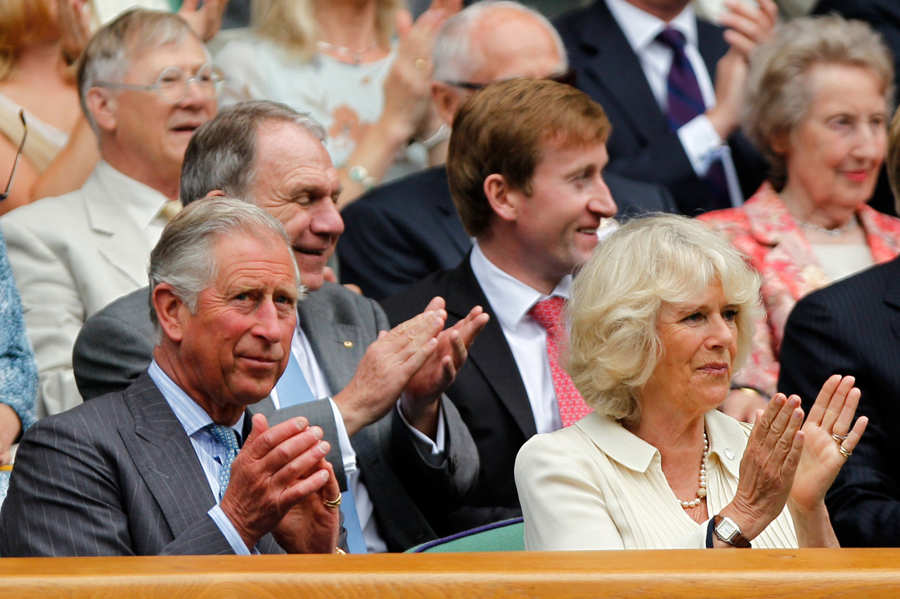 "With the Prince of Wales visiting Wimbledon for the first time since 1970, Federer was at his best Wednesday and beat Fognini 6-1, 6-3, 6-2. Six-time champion Federer won 37 of 41 points on his first serve, and won 21 of 23 points at the net against Fognini, an Italian ranked 68th. Prince Charles and the Duchess of Cornwall sat in the first row of the Royal Box as Federer walked onto Centre Court for the day's first match. Federer and Fognini stood side by side as they bowed awkwardly toward the royals, and Charles responded with a wave and grin. ""They do brief you beforehand,"" Federer said. ""I guess you don't do anything stupid. You behave. Obviously we were asked to bow, which is obviously no problem to do. We're thrilled for the tennis family that they came to watch Wimbledon today."""