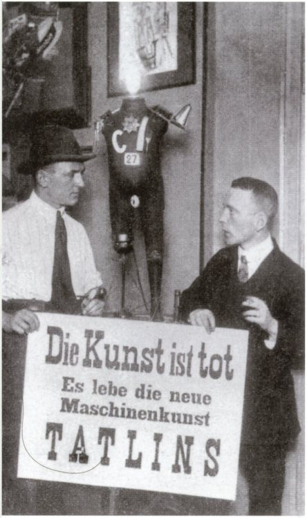 rhea137:  First International Dada Fair, Otto Burchard Gallery, Berlin 1920: Art is Dead - Long live Tatlin's New Machine Art.