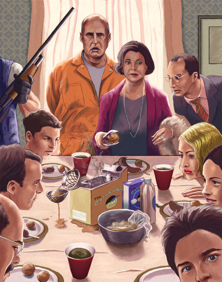 popculturebrain:  Bluth Thanksgiving from 'Arrested Development' Art Show | /Film  The best.