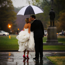 bridalguidemag:  Who knew rainy weather could make for such romantic wedding day photos? Photo Credit: Vesic Photography Plus, check out more of our most popular wedding photos!