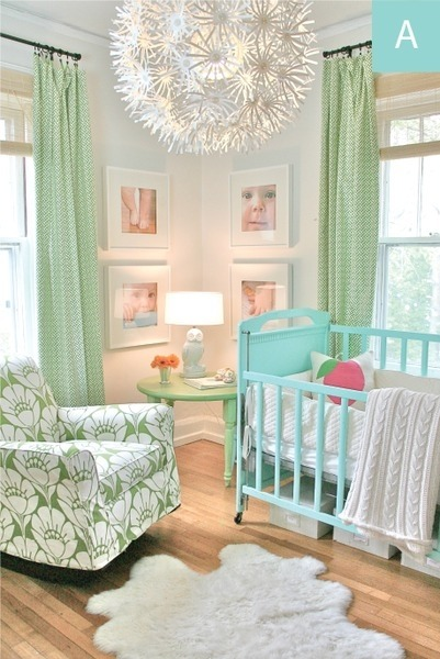 Beautiful nursery design.