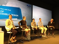 Go further With Ford. The panel assembles for the Age of Accessible Design session with Christian Siriano and Ari S. Goldberg at the Ford Go Further Design event, which introduces new trends and fascinating speakers on topics from Eco-Cycology to Design in the Age of Aesthetics and Attention.