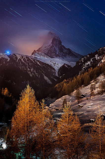 sapphire1707:  at the edge of Zermatt by CoolbieRe on Flickr.