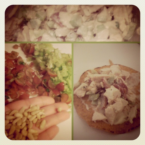 #healthy #snack #yesterday #celery #grapes #parsley #pinenuts #chicken Yummo. (Taken with Instagram)