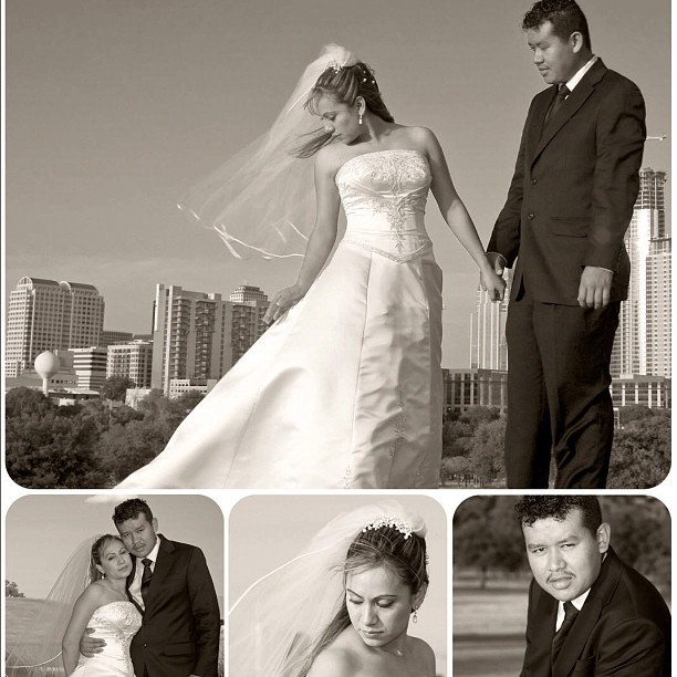 #wedding #portrait collage. Even though it was a bright day, I enjoy the muted sepia better. (Taken with Instagram)