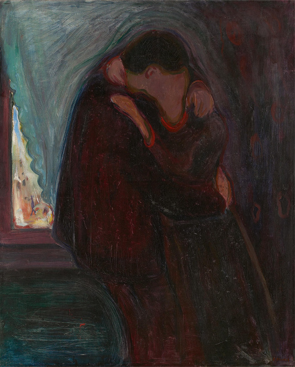 nevver:  The Kiss, Edvard Munch
