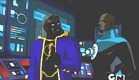 I had no idea that Static Shock grew up to join the Justice League. I saw many episodes where some of the other super heroes helped him out but I guess I missed the episode where he is actually a member. There was even a toy announced for the future Static Shock!    Anyways, here are some more pictures of him.