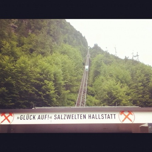 Way to go to the salt Mine #hallstatt #austria  (Taken with Instagram)