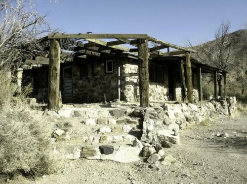 Barker Ranch…Death Valley, Before The Fire  That's The Family's Bus in the corral