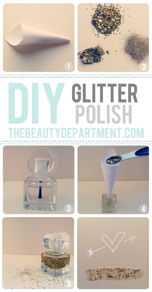 modcloth:  DIY: Glitter nail polish. Have you ever walked into your favorite drug store or cosmetic provider looking for glitter nail polish? Of course! Did you ever just think I wish I could mix this one and this one? Well, now you can with this super simple diy project! Glitter nail polish to match every outfit, yes please! (via The Beauty Department) <3 Chelsey, ModStylist Need styling suggestions, trend tips, or dress details? Ask a ModStylist and your question might be featured on our feed!  Easy peasy!