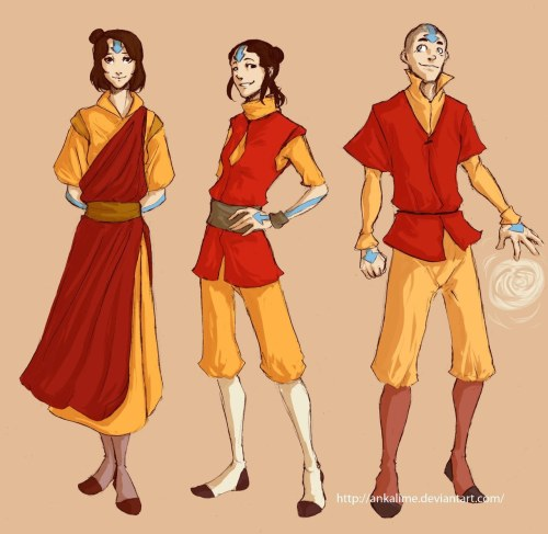 Airbending kids by ~ankalime