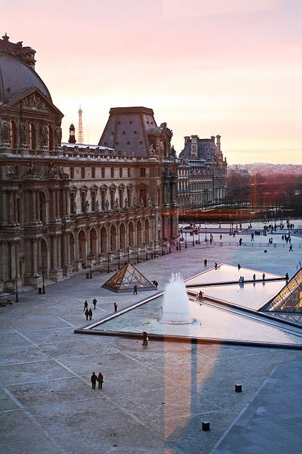 pioro:  Paris Sunset from the Louvre window by Dimitry B on Flickr.