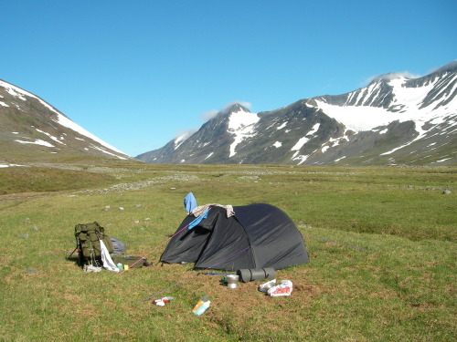 Another photo from a hiking trip in Sweden. This is also from Sarek national park.