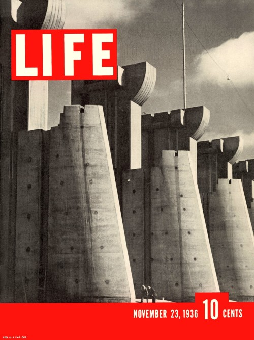 life:  sarahbananaix:  Margaret Bourke-White: Fort Peck Dam, 1936. First cover of Life magazine. One of my all time favorite photographs.  Us too :)