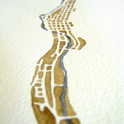 northlaketrail:  Watercolor map by SummitRidge