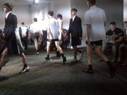 10magazine:  RAF SIMONS: PARIS MENSWEAR SPRING/SUMMER 2013  Real mass boy action. They came from all directions. And I liked it.  by Antony Miles