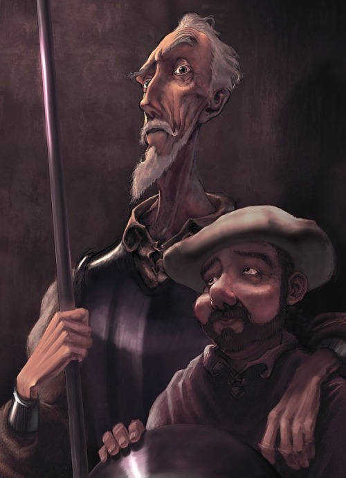 Quixote and Sancho by Antonio Ares Gastesi (Source)