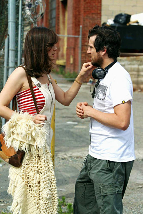 Marion Cotillard and Guillaume Canet on set of Blood Ties