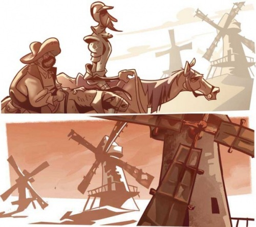 Dom Quixote & Sancho Pança by Thiago Soares. (Source)