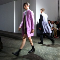 The shortest shorts, perky colours, floral tea dress coats at Raf Simons #attheshows #pfw (Taken with Instagram)
