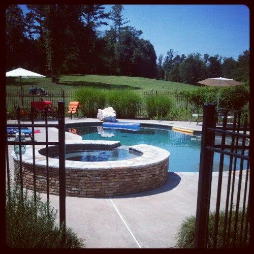 Don't worry I got the pool to myself xP (Taken with Instagram)