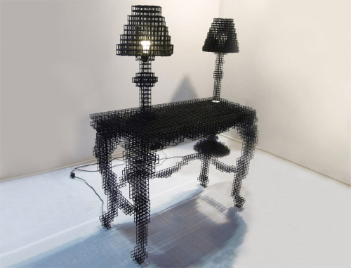 thecreatorsproject:  Optical illusion furniture.