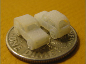 Shapeways | Blog: 3D Printing Very Small Things Frosted Ultra Detail is the material of choice for people 3D Printing very small things at Shapeways with the ability to 3D Print o.3mm walls and details down to 0.1mm but we do see other materials used too.  Take a look at just a few of the thousands of 3D Printed miniatures in the Shapeways gallery….