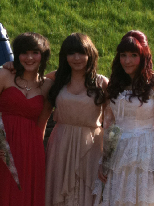 Prom hair. These triplets looked fabulous.