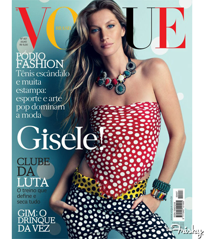 That's A Lot Of Look: Gisele Bundchen On The Cover Of Vogue Brazil - The Frisky