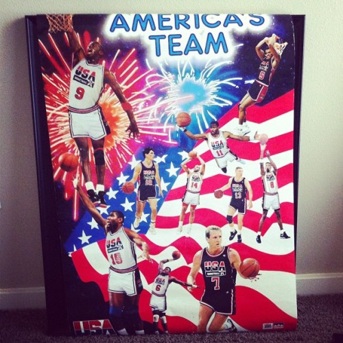 Found an old poster. Dream Team. Legend……dary!!! (Taken with Instagram)