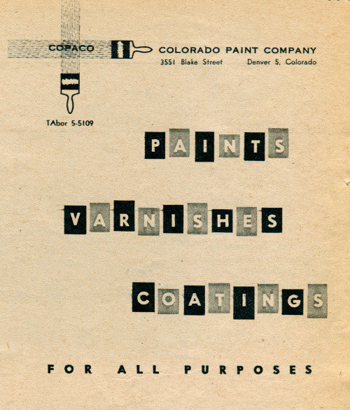 Ad for Colorado Paint Company, 1959
