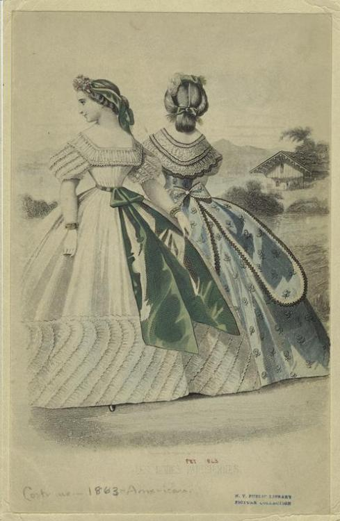 oldrags:  Ballgown, Aug 1863 US, Peterson's Magazine